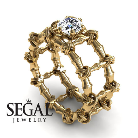 The Bamboo Power knot Diamond Ring- Sophia no. 1