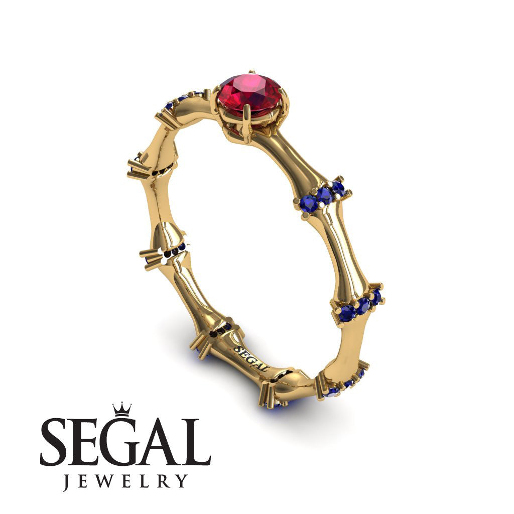 Fancy Bamboo Ruby Ring- Grace no. 7
