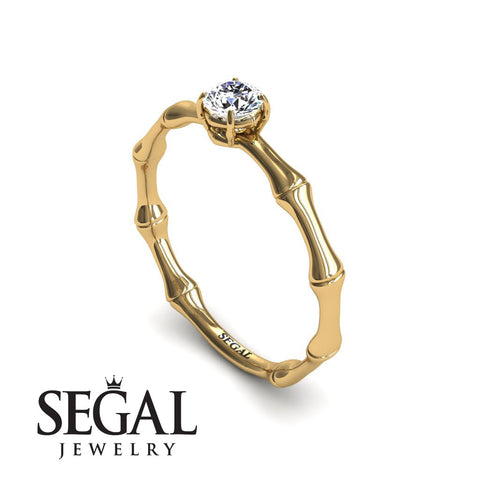 Solitaire Bamboo Diamond Ring- Charlotte no. 1