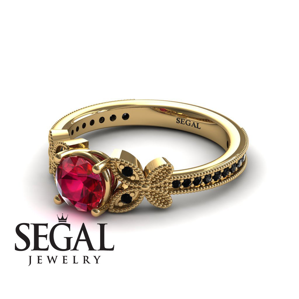 The Butterfly Stairs Ruby Ring- Amelia no. 10
