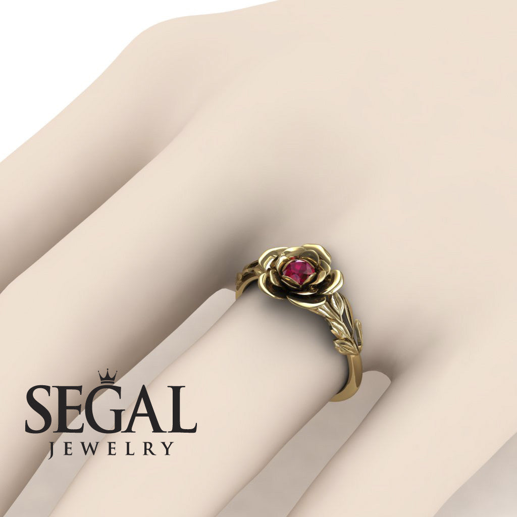 Rose Solitaire Engagement Ring - Adalyn no. 7