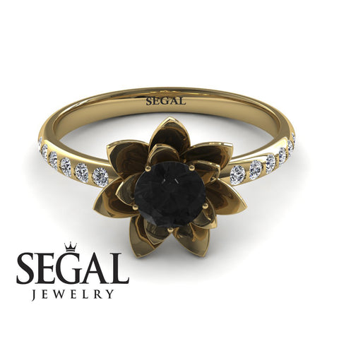 Lotus Unique Engagement Ring - Lotus no. 4
