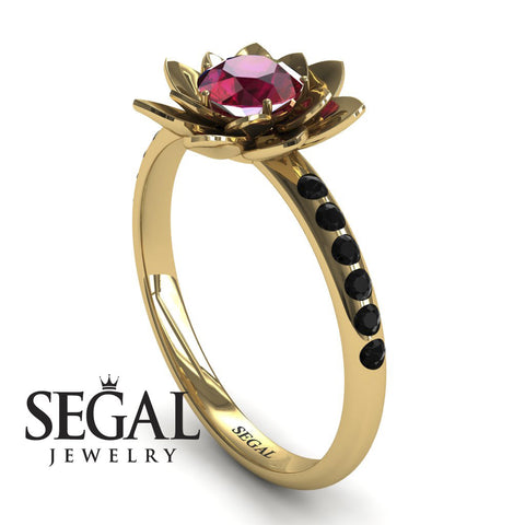 Lotus Flower Ruby ring - Lotus no. 7