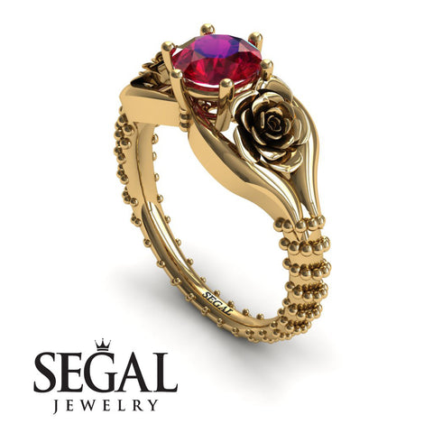 The Rose Spike Ruby Ring- Camilla no. 7