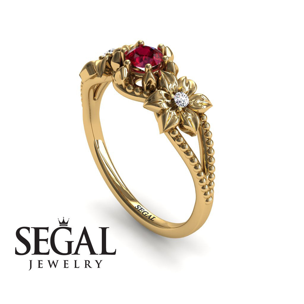 Flower Nature Engagement Ring - Kennedy no. 4