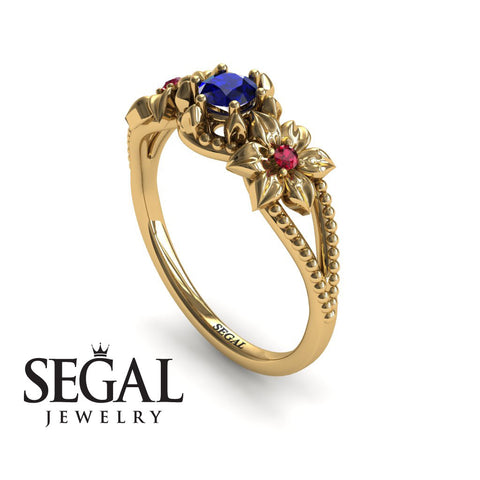 The Flower cocktail ring Blue Sapphire Ring- Kennedy no. 13