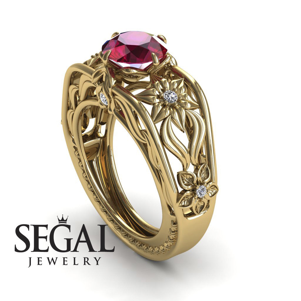 The Structure Of Nature Ruby Ring- Alexis no. 10