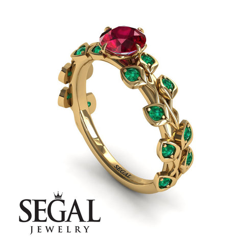 Leafs All Around Ruby Ring- Sydney no. 16