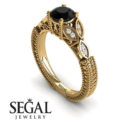 The Leaf Legend Black Diamond Ring- Adeline no. 4