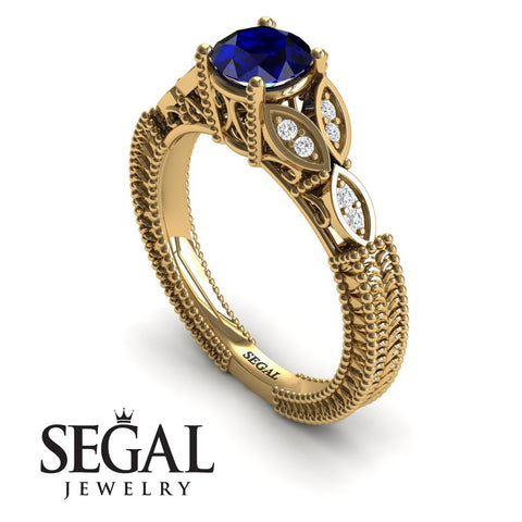 The Leaf Legend Blue Sapphire Ring- Adeline noº 7