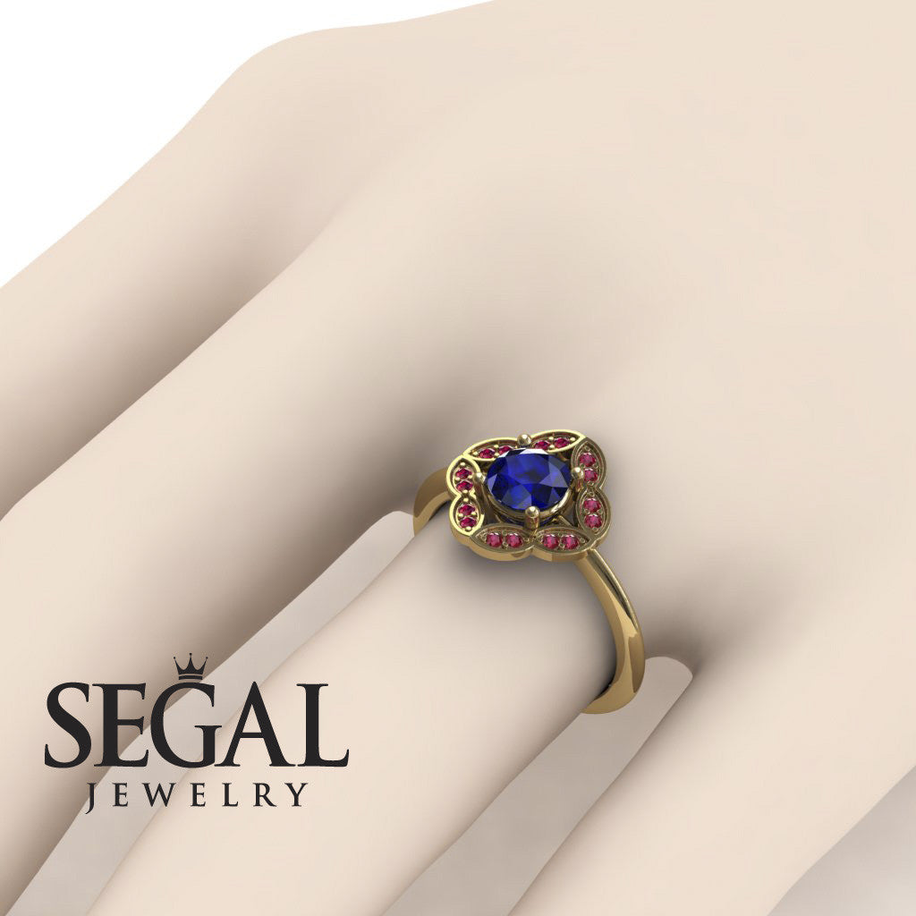 A Princess Ring Blue Sapphire Ring- Lucy no. 7