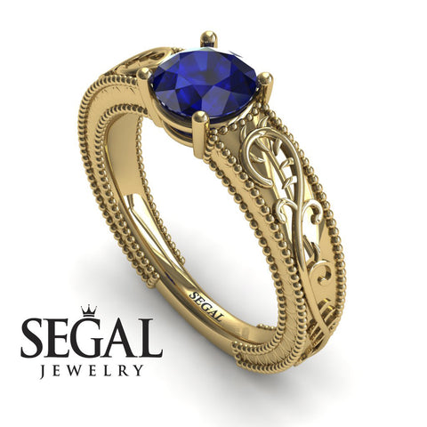Vintage Melody Blue Sapphire Ring- London no. 7