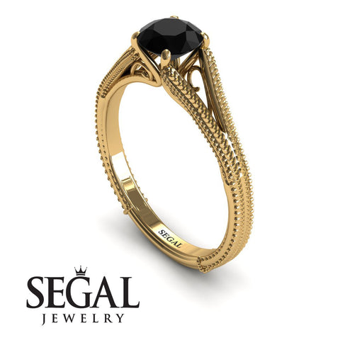 The Royal Queen Black Diamond Ring- Eva no. 4