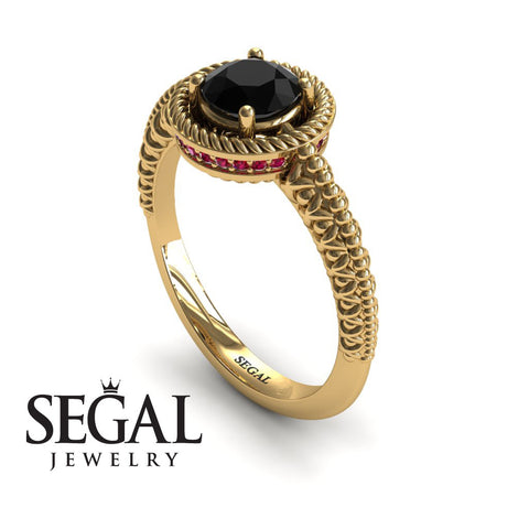 The Vintage Bling Black Diamond Ring- Penelope no. 4
