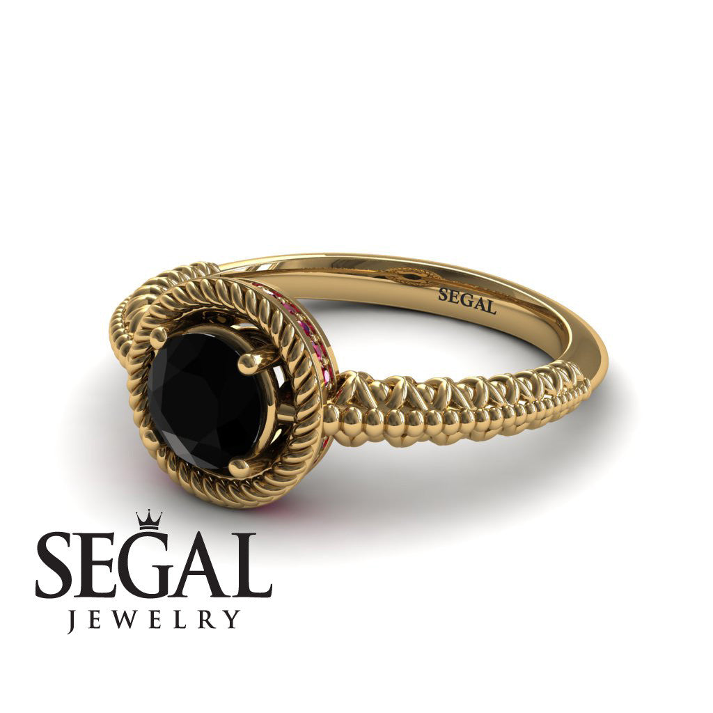 The Vintage Bling Black Diamond Ring - Vera no. 4