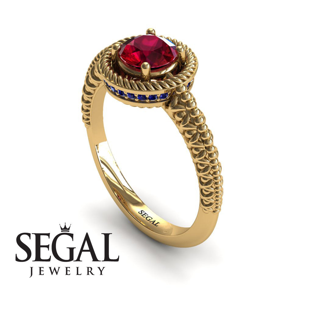 The Vintage Bling Ruby Ring - Vera no. 7