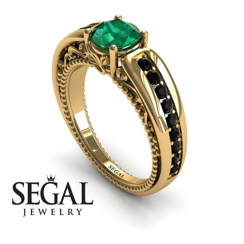 Stairway to Heaven Green Emerald Ring- Gabriella no. 13
