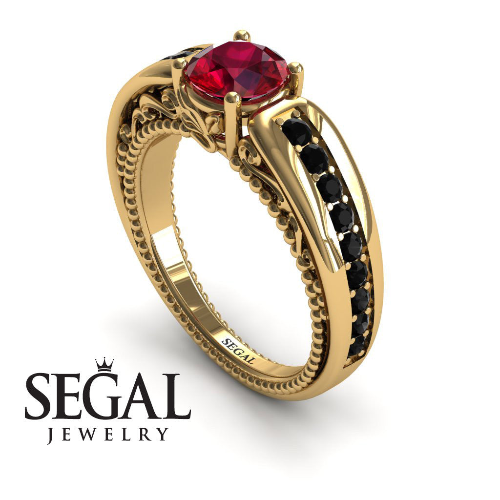 Stairway to Heaven Ruby Ring- Gabriella no. 10
