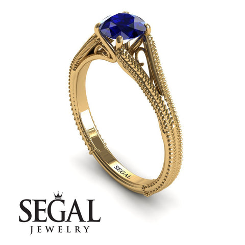 The Royal Queen Blue Sapphire Ring- Eva no. 10