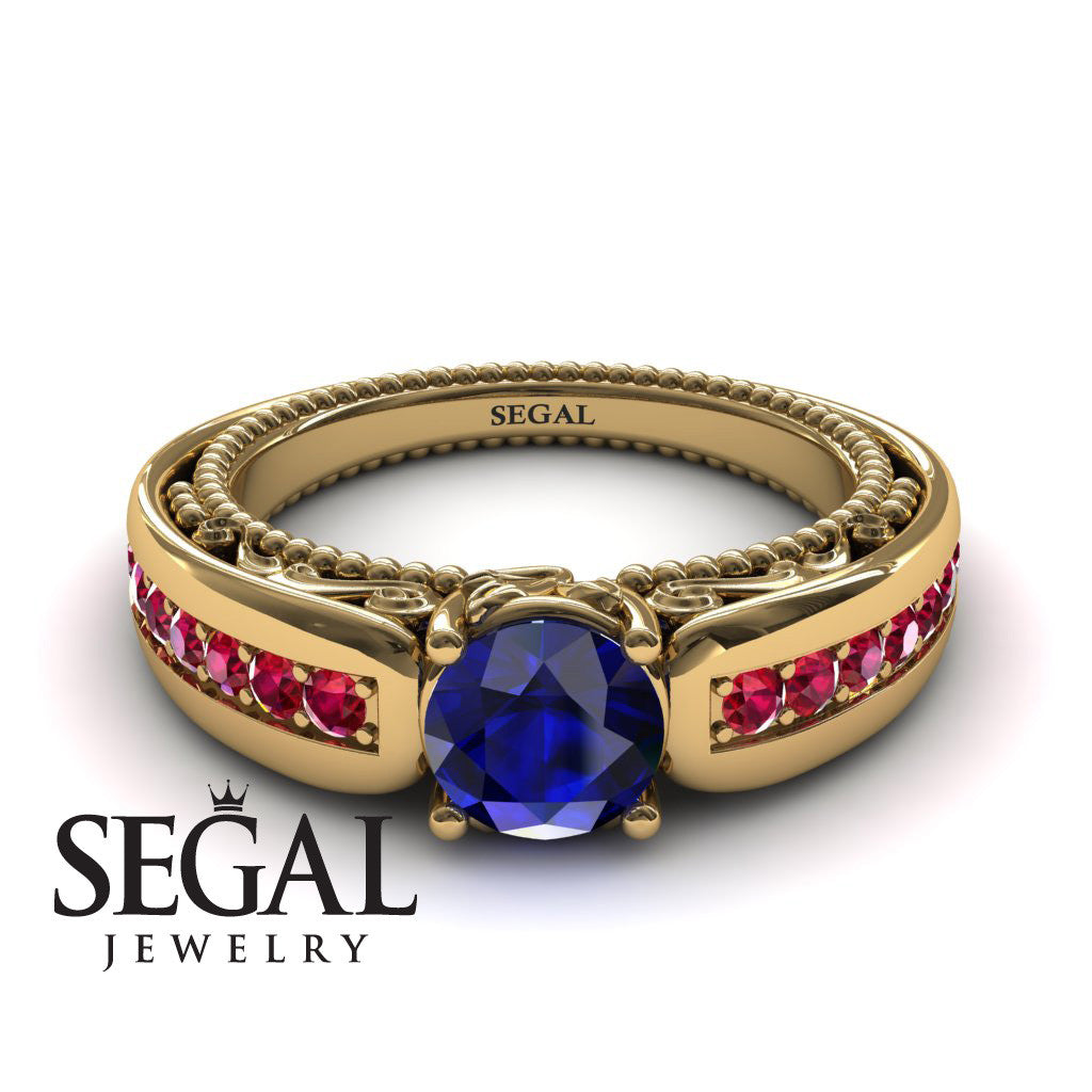 Stairway to Heaven Blue Sapphire Ring- Gabriella no. 7