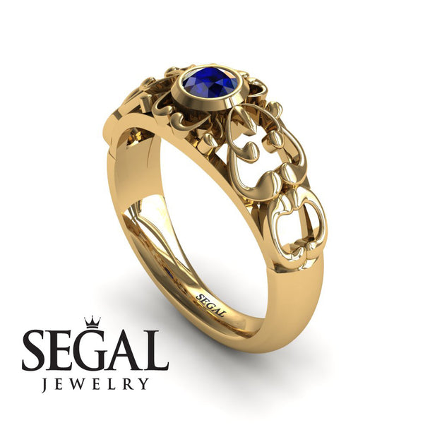 The Ancient Ring Blue Engagement Sapphire Ring- Makayla