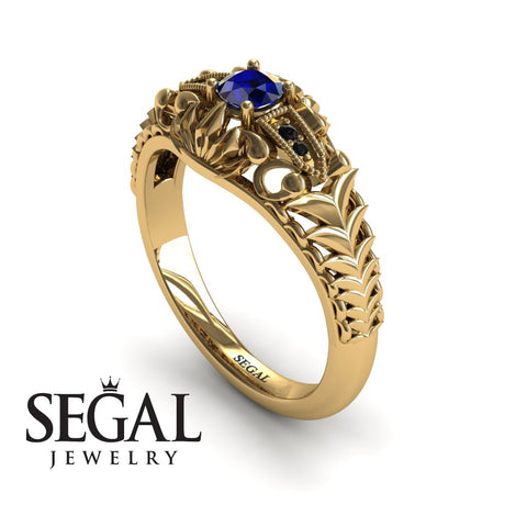 The Flying birds Blue Sapphire Ring- Cadence noº 10