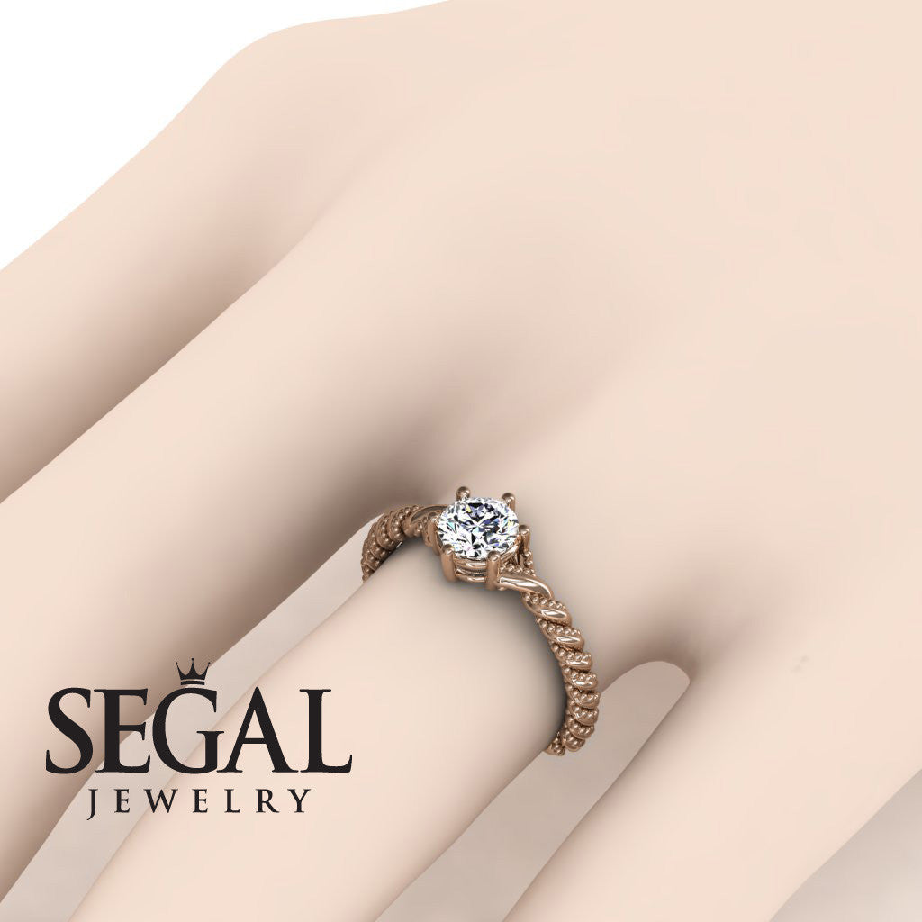 The Braid Ring Diamond Ring- Keira no. 2