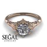 Solitaire Vintage Engagement Ring - Reagan no. 2
