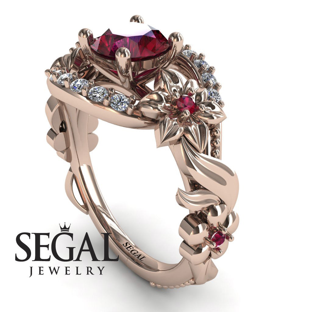 Spring Full With Flowers Ruby Ring - Layla no. 5