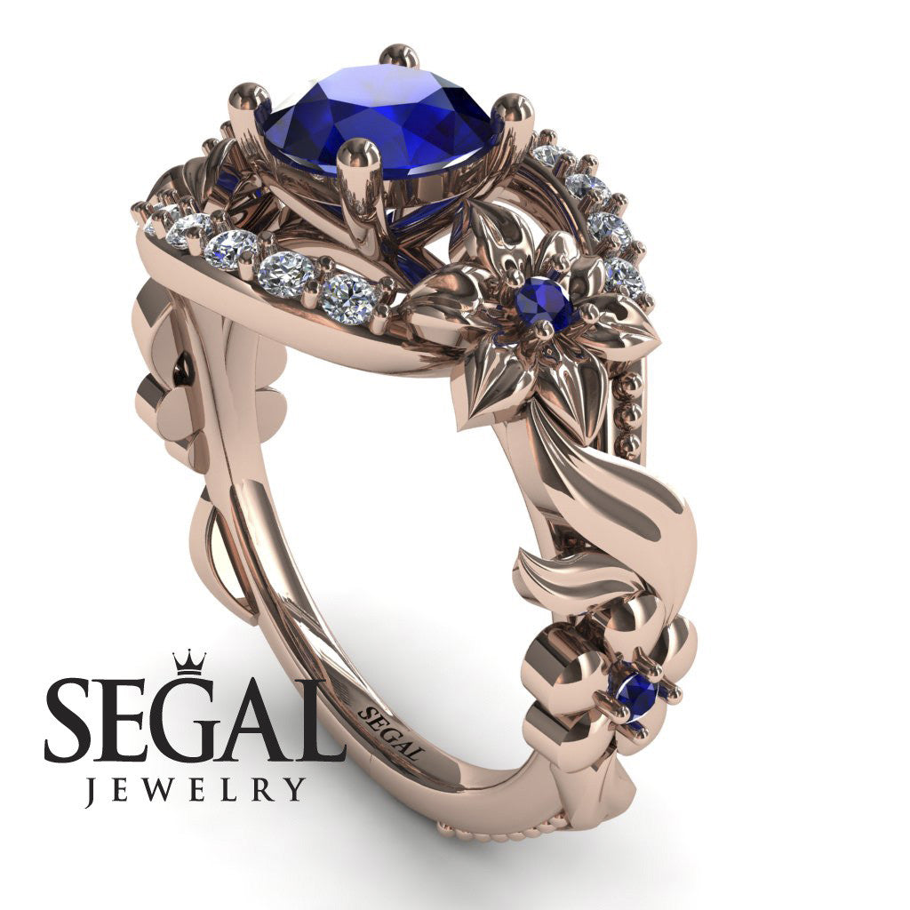 Spring Full With Flowers Sapphire Ring - Layla no. 8
