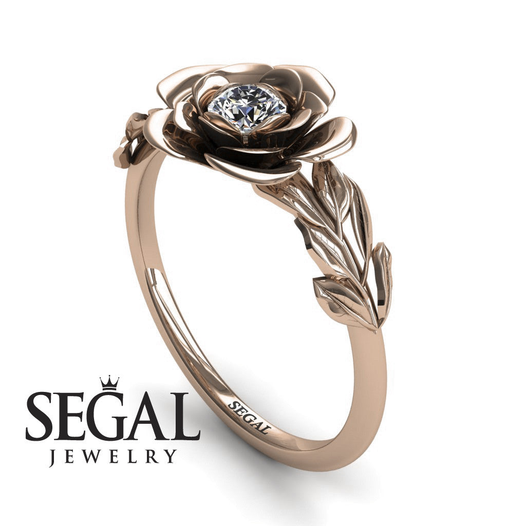 Soft Flower And Leaves Diamond Ring- Adalyn no. 2