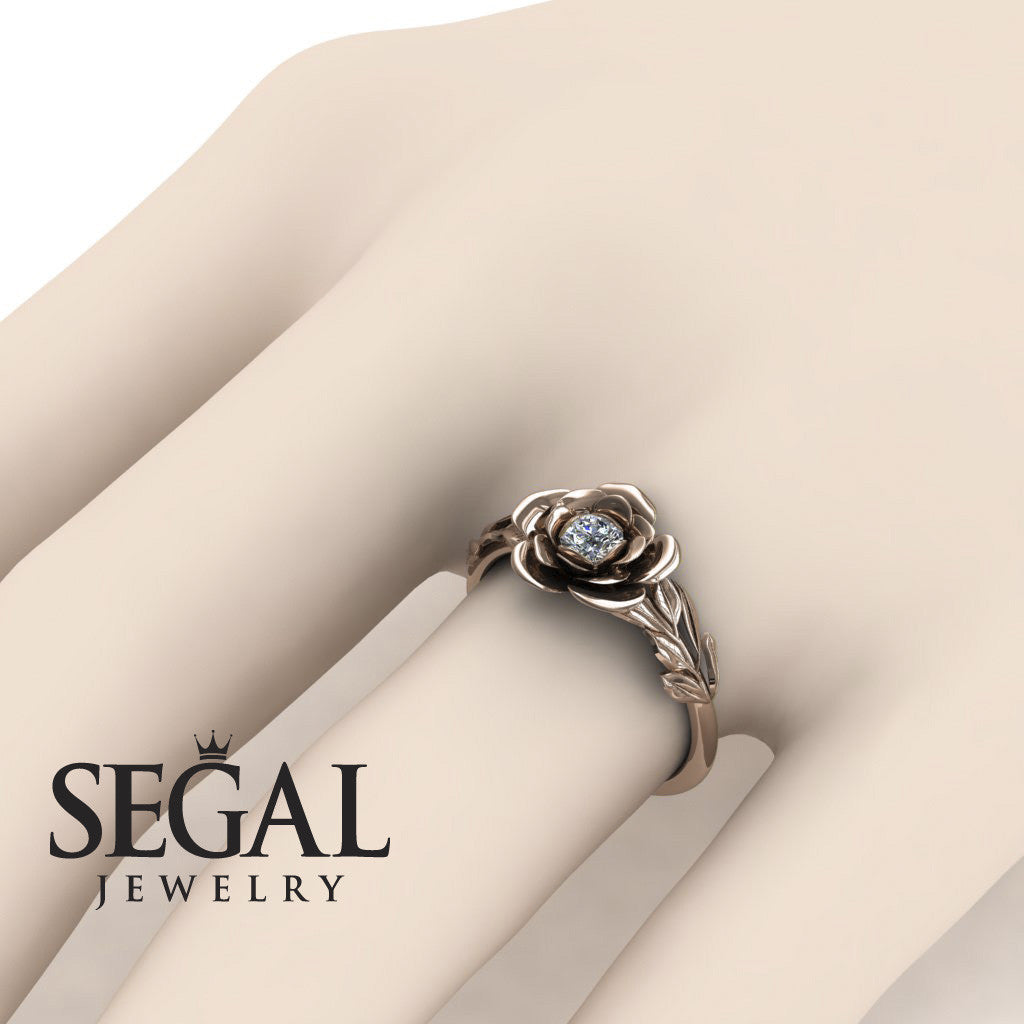 Rose Flower Engagement Ring - Adalyn no. 2