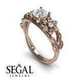 Leaf Flower Engagement Ring - Ella no. 2