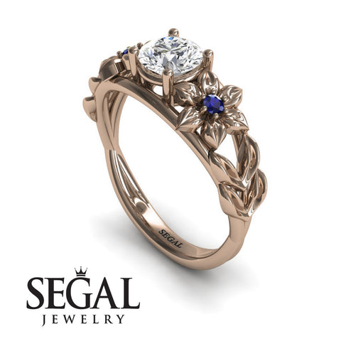 Flower Floral Engagement Ring - Ella no. 8