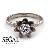 Lotus Flower Engagement Ring - Lotus no. 2