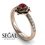 Unique Rose Engagement Ring - Elena no. 5