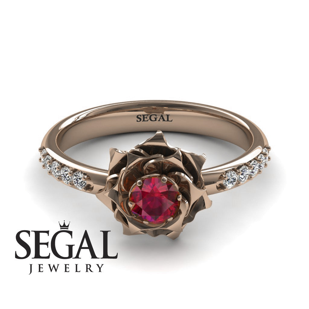 A lady's Rose Ruby Ring - Elena no. 5