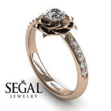 Simple Rose Engagement Ring - Elena no. 2