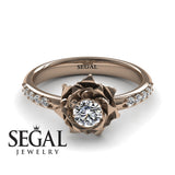 Unique Rose Engagement Ring - Elena no. 2