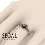 Delicate Rose Engagement Ring - Elena no. 2