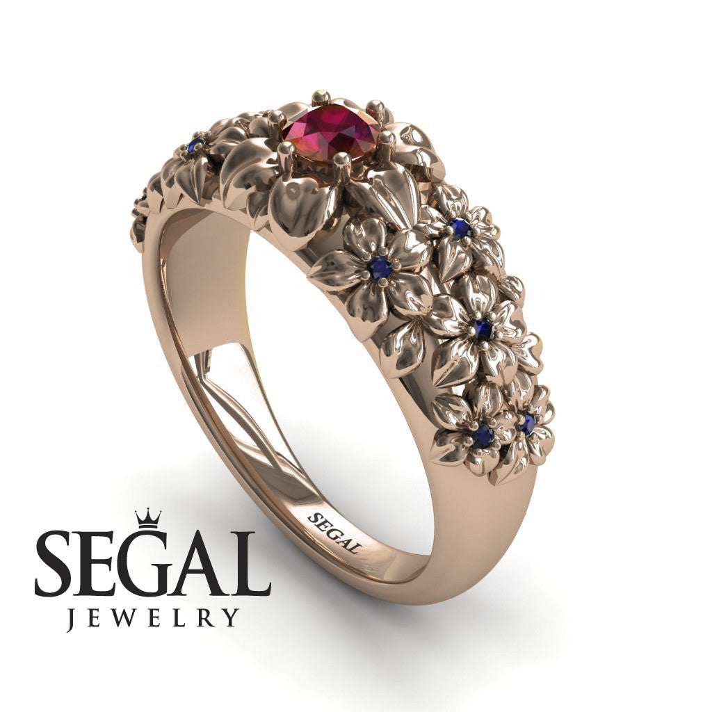 The Ring Of Flowers Ruby Ring- Violet no. 14