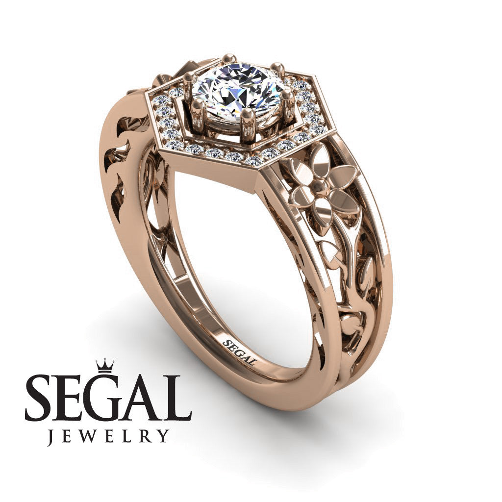 The Hexagon Flower Diamond Ring- Paisley no. 2