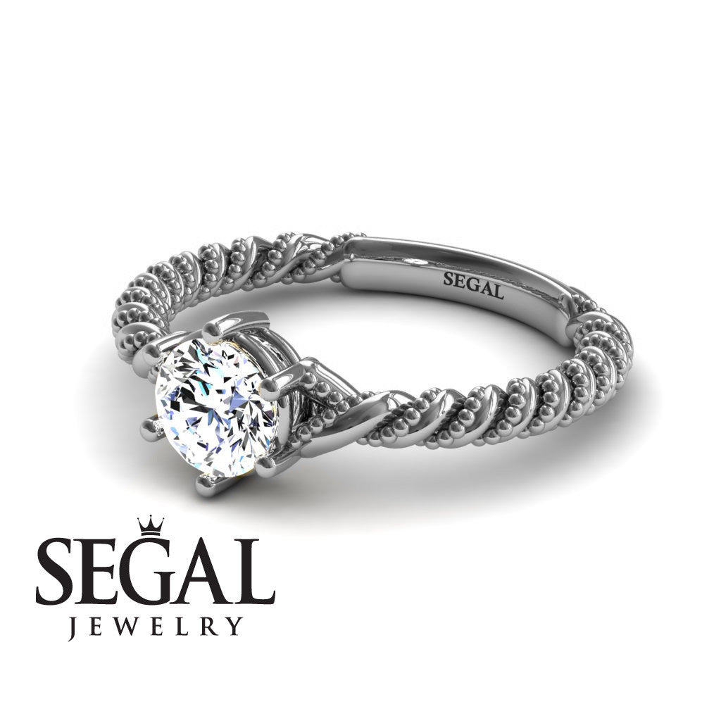 The Braid Ring Diamond Ring- Keira no. 3