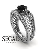 The Arch Ring Black Diamond Ring- Zoe no. 6