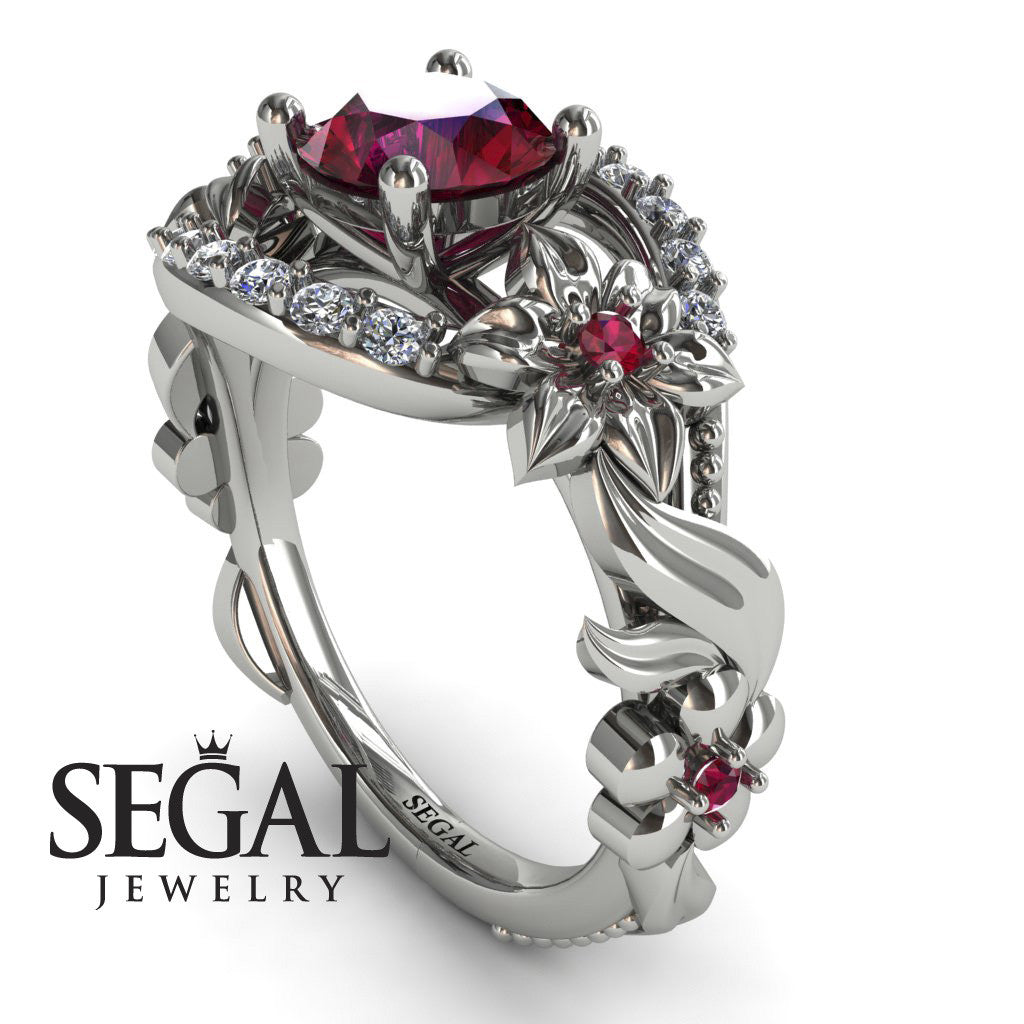 Spring Full With Flowers Ruby Ring - Layla no. 6