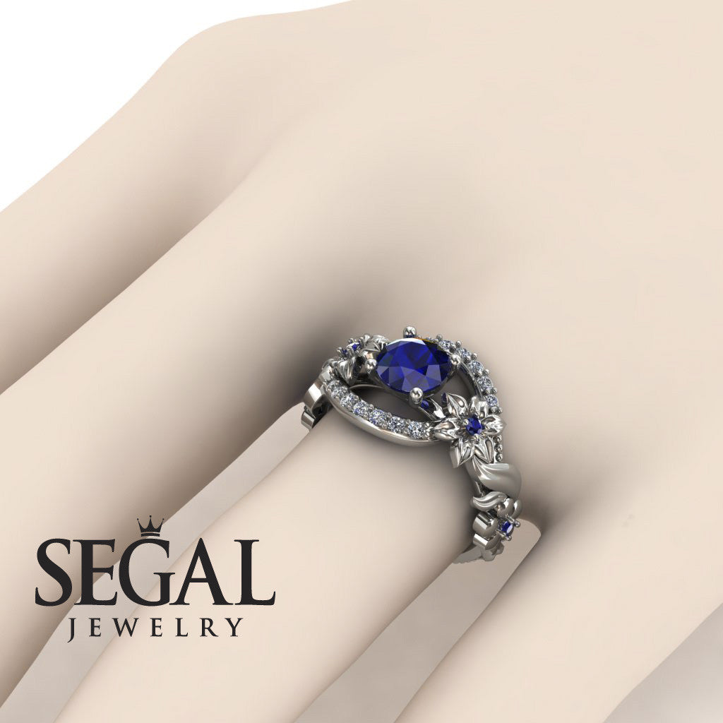 Spring Full With Flowers Sapphire Ring - Layla no. 9