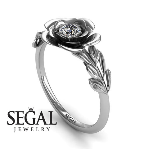 Solitaire Flower Engagement Ring - Adalyn no. 3