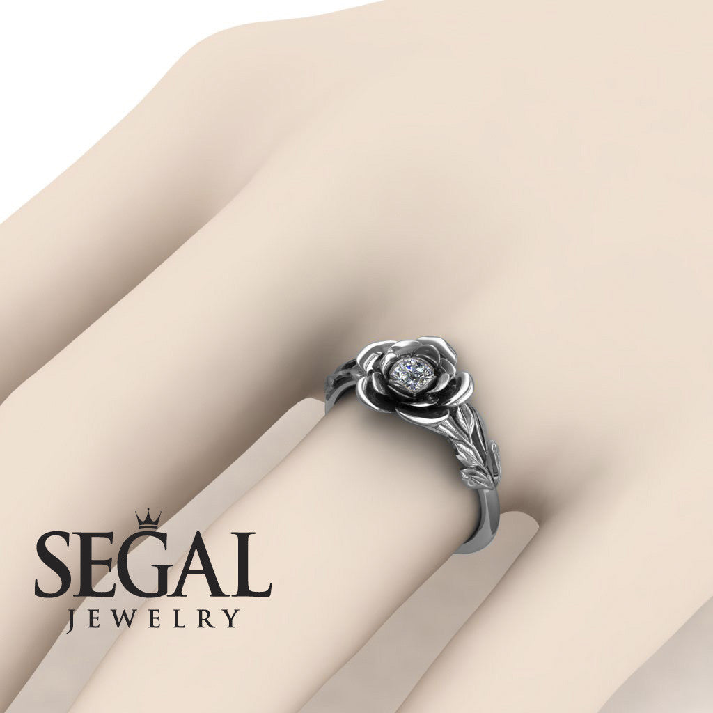 Rose Solitaire Engagement Ring - Adalyn no. 3