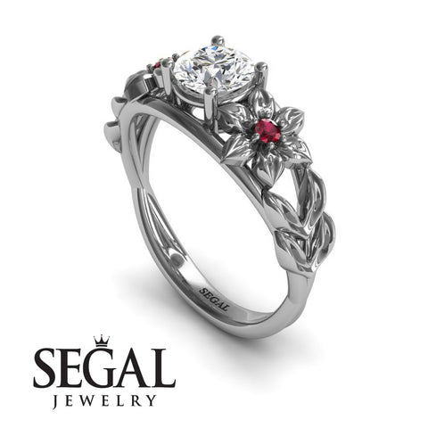 Floral Flower Engagement Ring - Ella no. 6