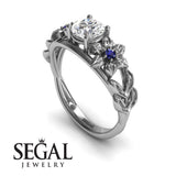 Leaf Flower Engagement Ring - Ella no. 9